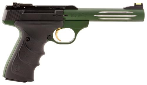 "Browning Buck Mark URX, 22LR, 5.5"", 10rd, Green Finish, Fiber Optic Sights"