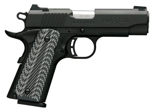 "Browning Black Label Pro Compact 1911, .380 ACP, 3.62"", 8rd, G10 Grips"