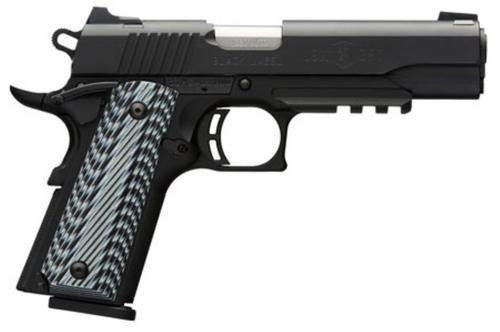 "Browning Black Label Pro 1911, .380 ACP, 4.25"", 8rd, Black G10 Grips"