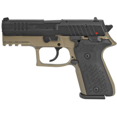 "Arex Rex Zero 1 Compact 9mm, 3.85"" Barrel, Contrast Sights, Flat Dark Earth, 15rd"