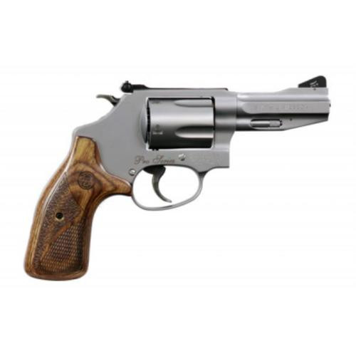 """Smith & Wesson M60 Pro, .38 Special +P, 3"""", 5rd, Wood Grip, Stainless Steel"""
