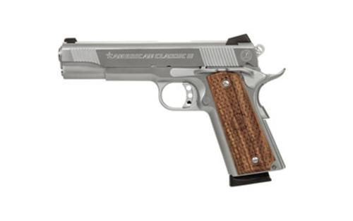 """American Classic 1911, 9mm, 5"""", 8rd, Hardwood Grips, Stainless Steel"""
