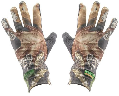 Primos Stretch Fit Gloves Sure Grip Palm Mesh One Size Fits Most Mossy Oak
