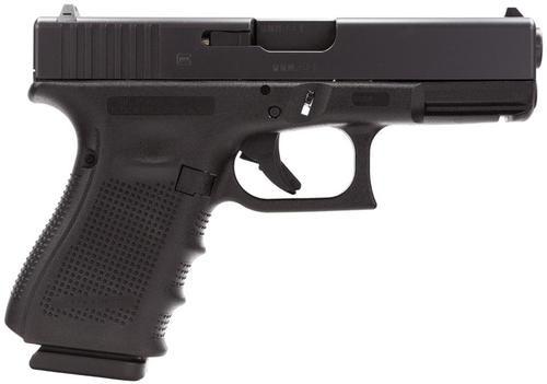 "Glock G19C G4 9mm, 4.01"", 10rd, Fixed Sights, Black"
