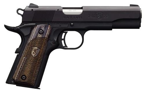 "Browning Black Label Gray Compact 1911, 22LR, 3.62"", 10rd, Combat Sights"