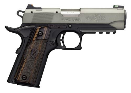 "Browning Black Label Gray Compact 1911, 22LR, 3.75"", 10rd"