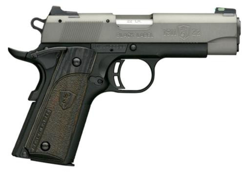 "Browning Black Label Gray Compact 1911, 22LR, 4.25"", 10rd, Combat Sights"