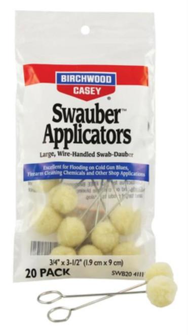 Birchwood Casey Swauber Applicators, 20 Pack