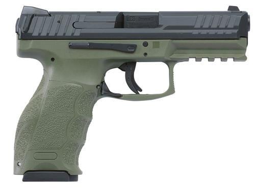 """HK VP9 9mm, 4.09"""", 15rd, OD Green Frame, Interchangeable Backstraps"""