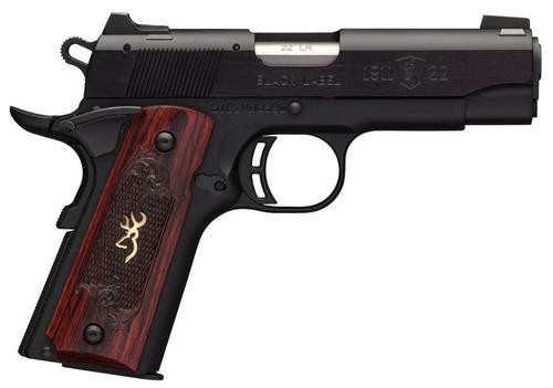 "Browning Black Label Medallion Compact, 22LR, 3.62"", 10rd, Rosewood Grips"