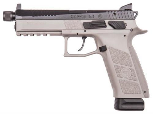 """CZ USA P-09 9mm, 5.2"""", 19rd, Urban Grey, Suppressor Ready"""