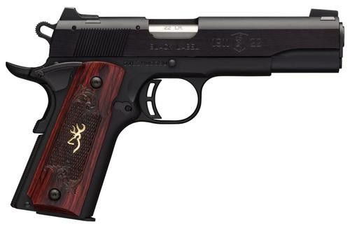 "Browning Black Label Medallion 1911, 22LR, 4.25"", 10rd, Rosewood Grips"