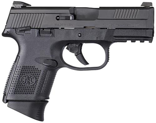 "FN FNS40 Compact, .40 S&W, 3.6"", 14rd, Night Sights, Black"