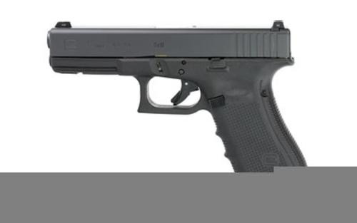 "Glock G17 G4 9mm, 4.9"", 10rd, Glock Night Sights, Black"
