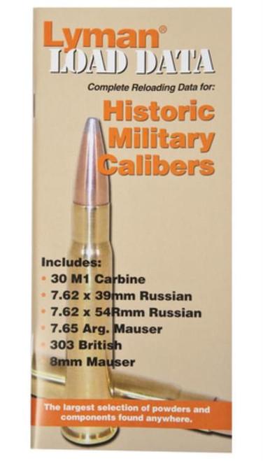 Lyman Load Data Book Old Military Calibers