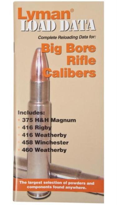 Lyman Load Data Book Big Bore Rifle Calibers