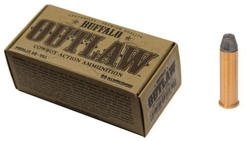 Buffalo Cartridge Outlaw 357 Magnum 125gr, Lead Round Nose Flat Point 50rd/Box