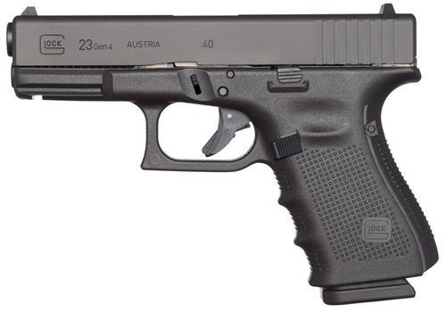 "Glock G23 Gen4 .40 S&W, 4"", 10rd, Fixed Sights, Black"