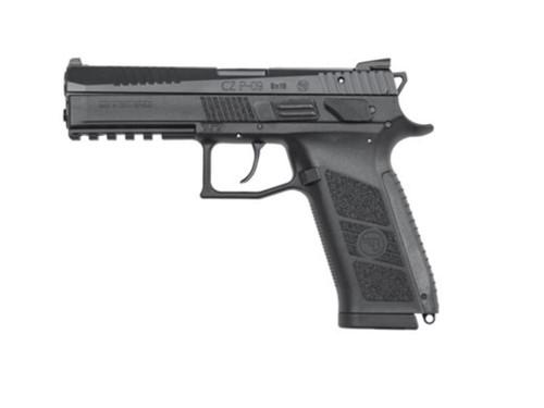 """CZ-USA P-09 Duty, .40 S&W, 4.53"""", 10rd, Black Polymer Frame/Black Slide"""
