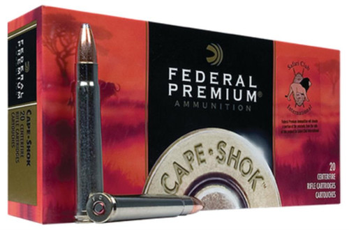 Federal Cape-Shok 375 H&H Magnum Trophy Bonded Bear Claw 300gr, 20rd Box