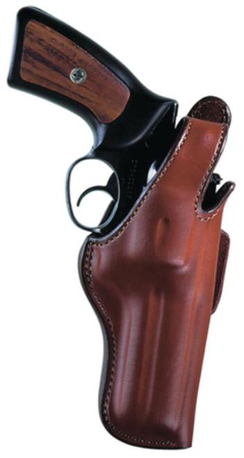 "Bianchi 5BHL Thumbsnap Suede Lined Holster 3"" Barrel Small Revolver Bulldog and Similar Plain Tan Right Hand"