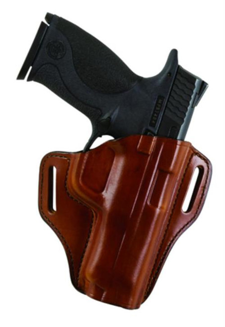 Bianchi, Model #57 Remedy Open Top Leather Holster, Fits 1911 Commander, Tan, Right Hand