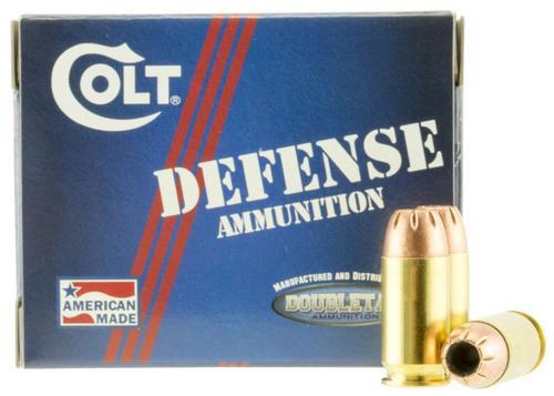 DoubleTap Ammunition Colt Defense, 45 ACP, 230Gr, Jacketed Hollow Point, 20rd Box