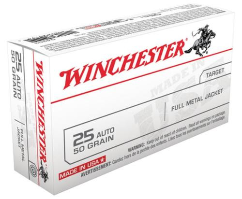Winchester USA 25 ACP FMJ 50gr, 50Box/10Case