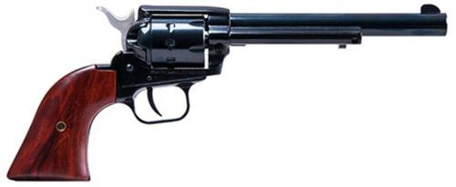 "Heritage Rough Rider, Single Action, 22 LR/22 WMR, 6.5"" Barrel, Alloy Frame, Black, Cocobolo Grips, Adjustable Sights, 9Rd"