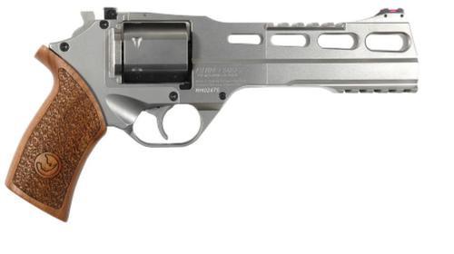 "Chiappa Rhino 60DS, .357 Mag, 6"", Hard Chrome, 6rd, Adjustable Sights"