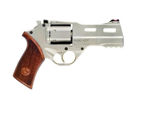 "Chiappa Rhino 40DS 357 Mag, 4"", Hard Chrome, Adjustable Sights, 6rd"