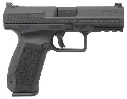 """Canik TP9DA, 9mm, 4.07"""", 18rd, Black Cerakote"""