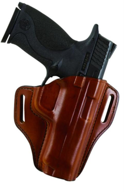 Bianchi, Model #57 Remedy Open Top Leather Holster, Fits S&W M&P Shield, Tan, Right Hand