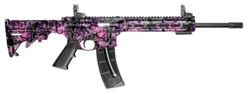"Smith & Wesson, M&P15-22, 22LR, 16.5"" Barrel, Muddy Girl Finish, 6 Position Collapsible Stock, 10"" M&P Slim Handguard M-LOK, Threaded Barrel, 25Rd, Flip Up Sights"