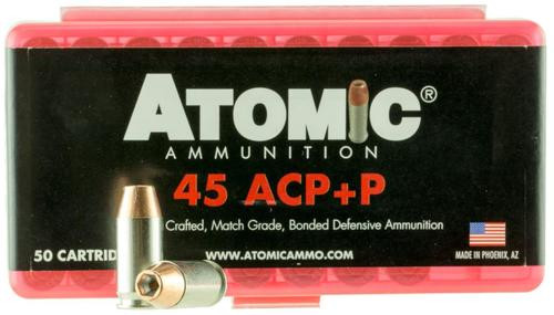 Atomic Defense 45 ACP +P 185 gr, Bonded MHP 50rd Box