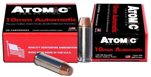 Atomic Defense 10mm Automatic 180 gr, Bonded MHP, 20rd Box