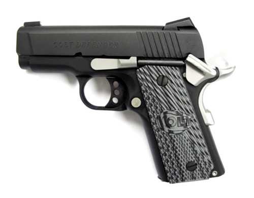 "Colt Defender 1911 45acp 3"" Barrel Bead Blast Finish 7rd Mag"