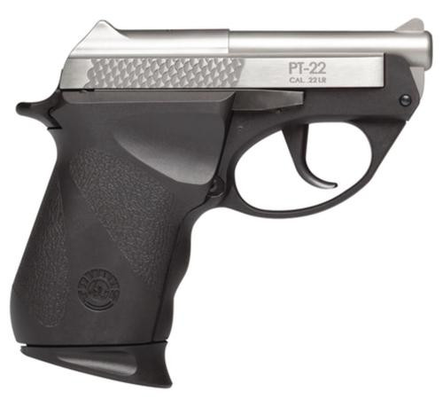 "Taurus PT22, Sub-Compact, 22 LR, 2.8"" Barrel, Polymer Frame, Black/Stainless Finish, 8Rd, 1 Magazine"