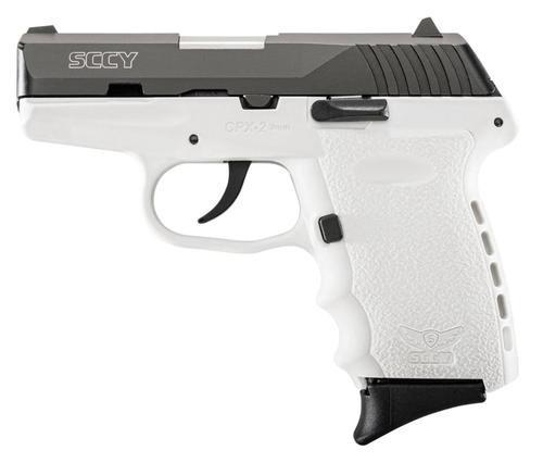 "SCCY CPX-2, 9mm, 3.1"", 10rd, White Polymer Frame, Black Nitride Slide"