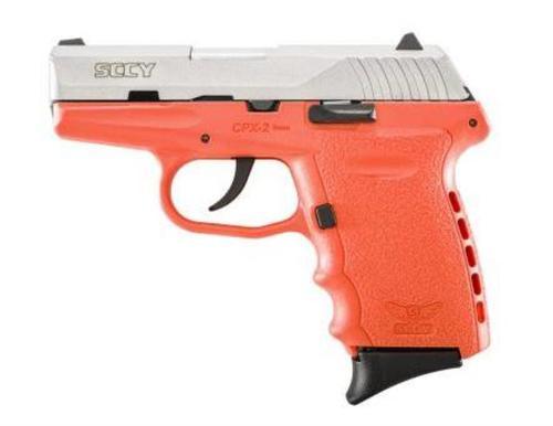 """SCCY CPX-2 9mm, 3.1"""" Barrel, Orange Frame, SS Slide, 10rd"""