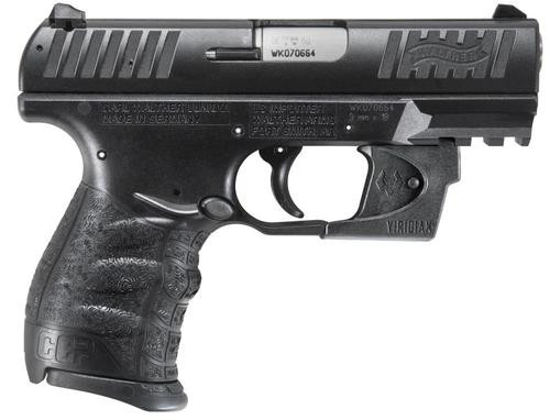 """Walther CCP 9MM 3.5"""" Barrel, Viridian Red Laser 8rd Mag"""