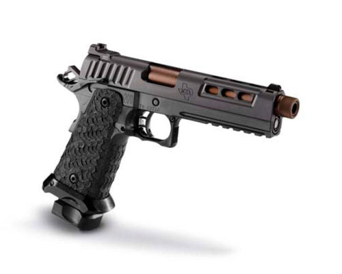 "STI DVC Tactical 45 ACP, DLC, 5.0"" Bull Barrel, Threaded 2 X 10 RD. MAG"