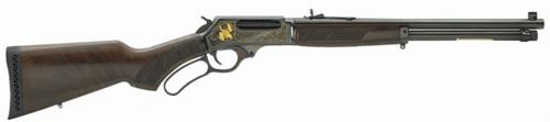 """Henry Repeating Arms, Lever Action, Wildlife Engraved, Lever, 45-70 Government, 18.43"""", Blue, 4Rd, Adjustable Sights, Blued, Walnut"""