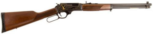 "Henry Lever Action, Wildlife Engraved, Lever, 30-30 Winchester, 20"", Blue, Walnut, 5Rd, Adjustable Sights"