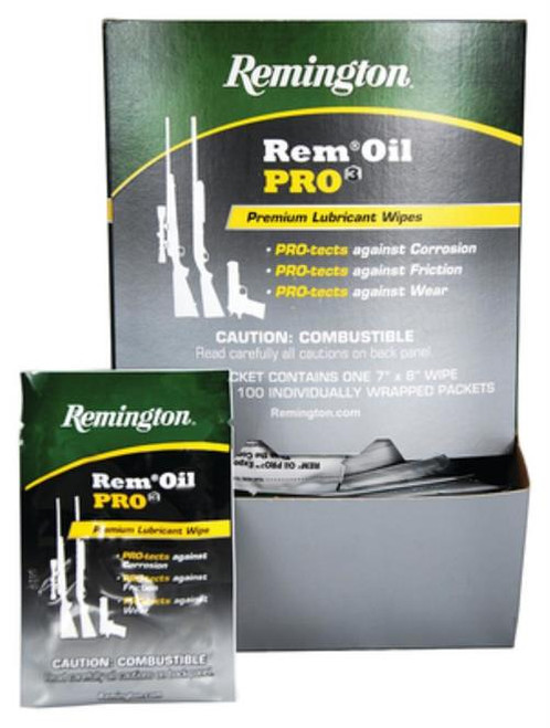 Remington Rem Oil Pro 100 Wipe Counter Display