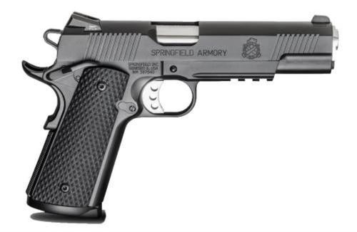 "Springfield 1911 Single 45 ACP 5"" Barrel, Black G10 Grip Black Armo, 8rd"