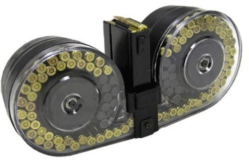 Beta C-MAG 7.62x51mm 100rd Drum, M1A/M14, Clear Covers