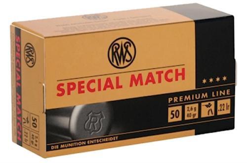 RWS .22LR Special Lead Round Nose 40 gr, 50rd Box