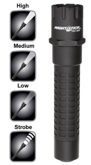 Nightstick Tactical Flashlight 200/125/65 Lumens Lithium Ion