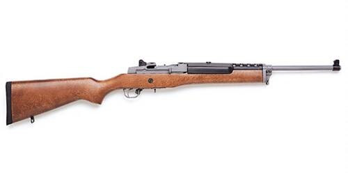 """Ruger Mini 14, .223/5.56, 18.5"""", 5rd, Hardwood Stock, Stainless Steel"""